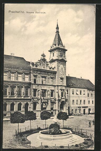 AK Prachatitz, Neues Rathaus 0