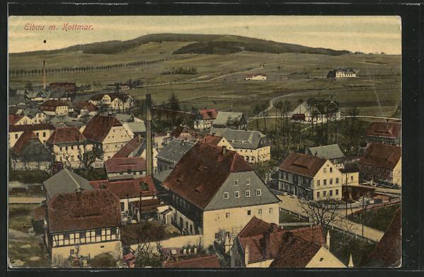 AK Eibau, Blick über Ort und Landschaft 0
