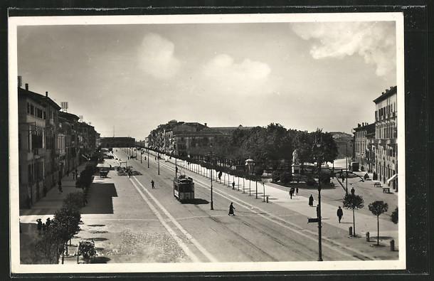 AK Verona, Corso Vittorio Emanuele, Strassenbahn 0