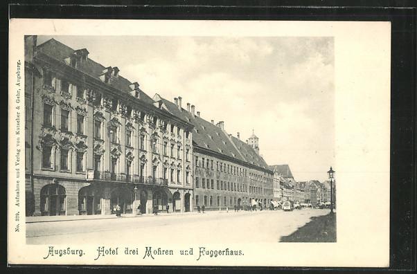 AK Augsburg, Hotel drei Mohren und Fuggerhaus 0