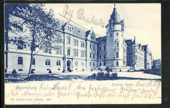 AK Regensburg, Schloss Jaxis um 1900 0