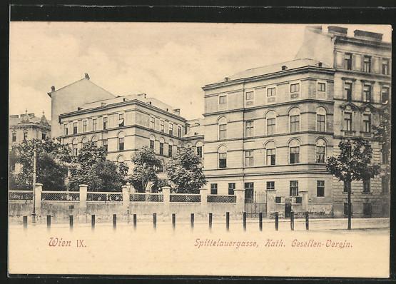 AK Wien, Spittelauergasse, Katholisches Gesellen-Verein 0