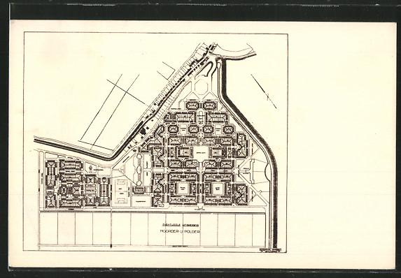 AK Oostzaan, Plan der Gartenstadt 0