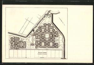 AK Oostzaan, Plan der Gartenstadt