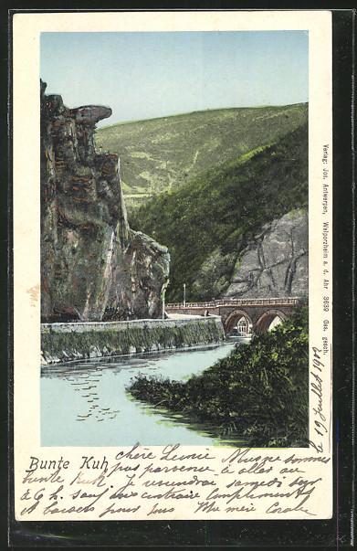 AK Walporzheim, Eisenbahnbrücke an der Bunten Kuh 0