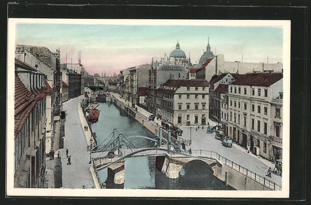 AK Berlin, Friedrichsgracht und Jungfernbrücke 0