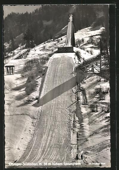 AK Garmisch-Partenkirchen, Olympia Skistadion mit hohem Sprungturm 0