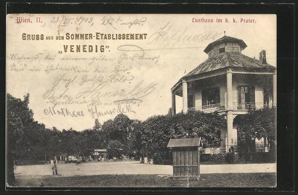 AK Wien, Prater, Sommer-Etablissement \