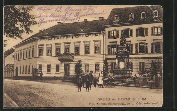 AK Germersheim, Kgl. Kommandantur und Kriegerdenkmal 0