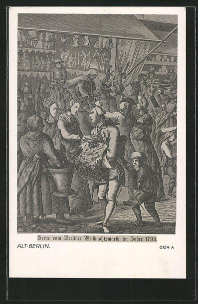 Künstler-AK Alt-Berlin, Berliner Weihnachtsmarkt anno 1793 0