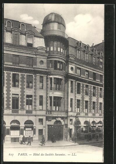 AK Paris, Hotel des Sociétés Savantes, Frontansicht 0