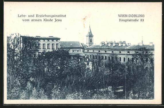 AK Wien-Döbling, Lehr- und Erziehungsheim vom armen Kinde Jesu in der Hauptstrasse 83 0