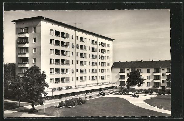 AK Erlangen, Hochhaus am Berliner Platz der Siemens-Siedlung 0