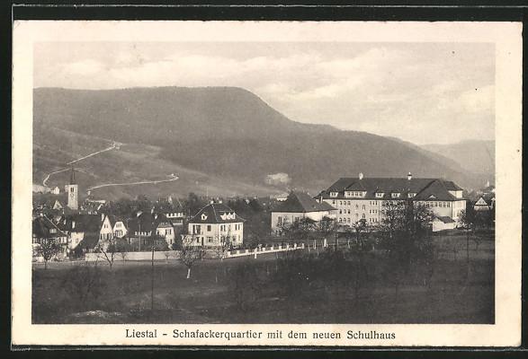 AK Liestal, Schafackerquartier mit neuem Schulhaus