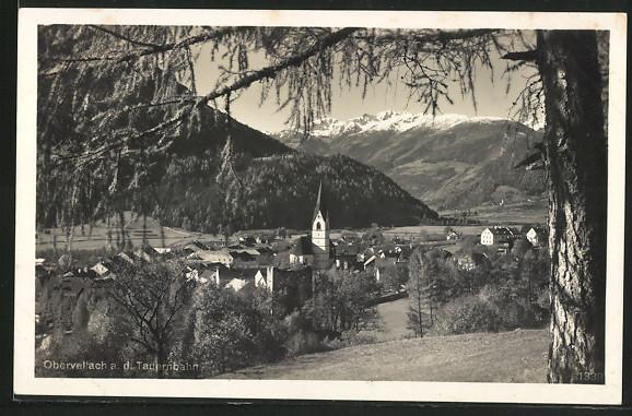 AK Obervellach a. d. Tauernbahn, Totalansicht
