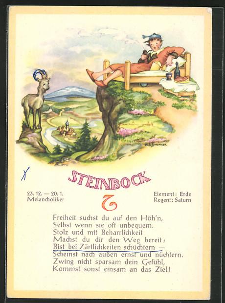 Steinbock Mann Im Bett