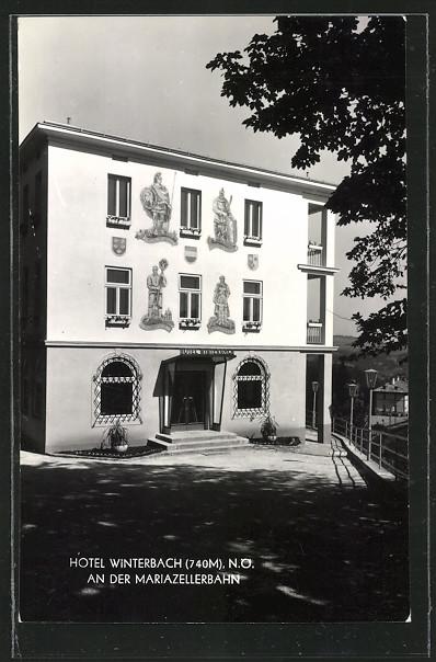 AK Winterbach an der Mariazellerbahn, Hotel Winterbach