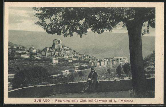 AK Subiaco, Panorama della citta dal Convento di S. Francesco