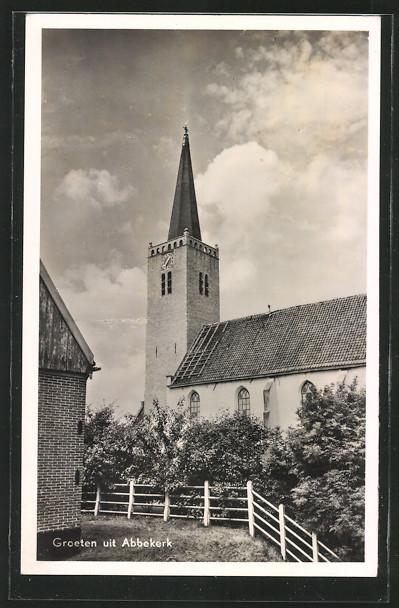 AK Abbekerk, Blick zur Kirche