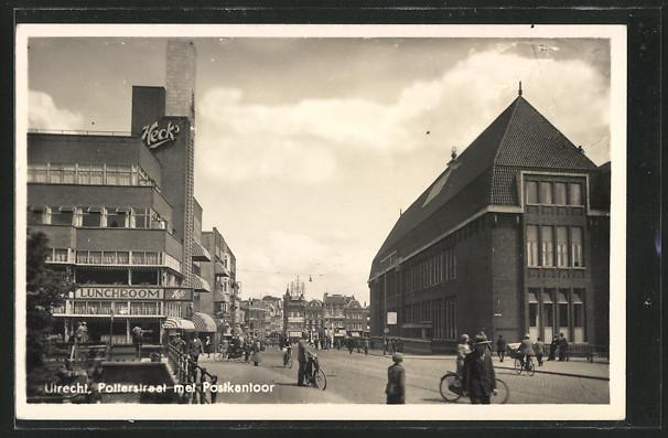 AK Utrecht, Potterstraat met Postkantoor
