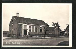 AK Smilde, Geref. Kerk, Strassenansicht der Kirche