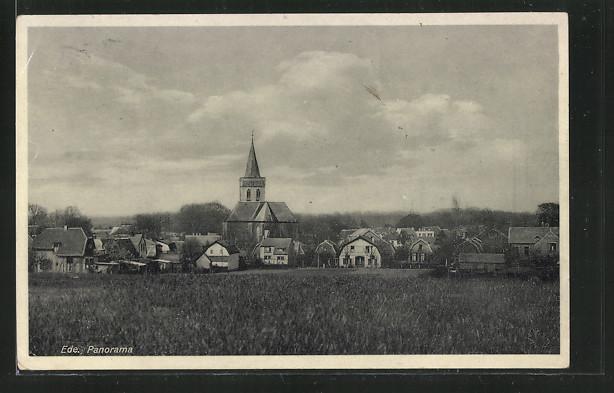 AK Ede, Panorama mit Kirche
