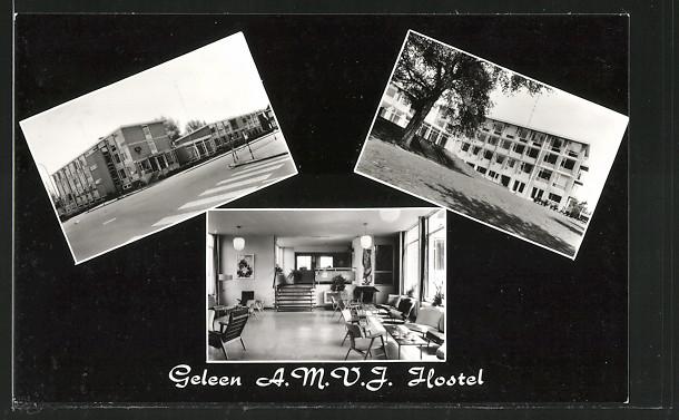 AK Geleen, A.M.V.J. Hostel, Jeugdcentrum met woonhuis