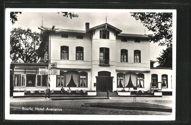 AK Ruurlo, Hotel Avenarius, Frontalansicht