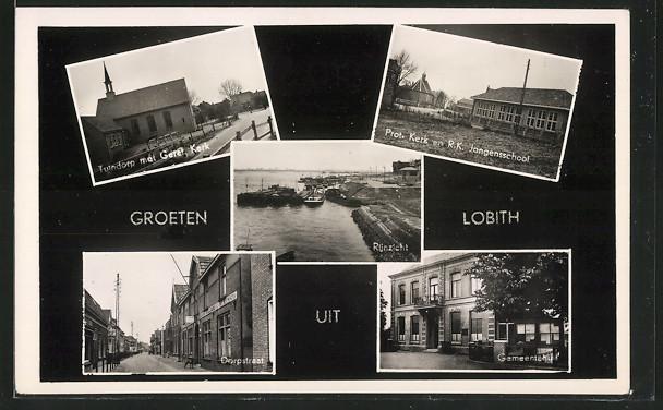 AK Lobith, Rijnzicht, Dorpstraat, Gemeentehuis