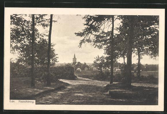 AK Ede, Paaschberg mit Blick auf Kirche