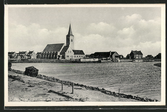 AK Middenmeer, Gezicht op Middenmeer met Ned. Herv. Kerk