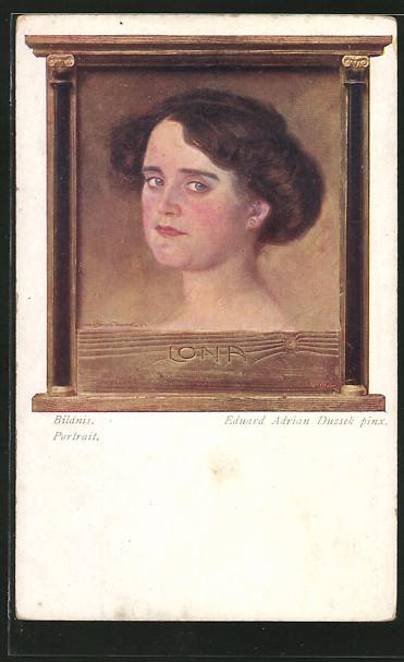 Künstler-AK Ed.Adrian Dussek: junge Frau, Portrait