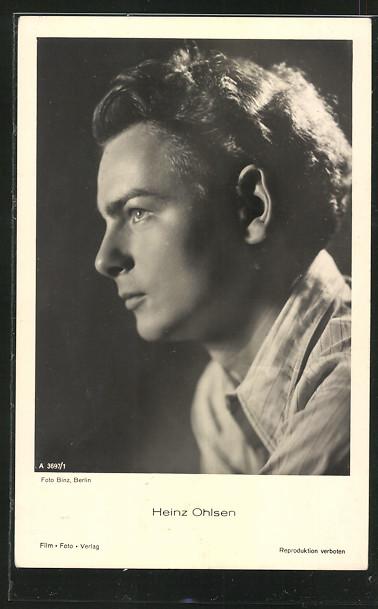 AK Schauspieler Heinz Ohlsen im Hemd