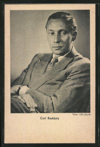 AK Schauspieler Carl Raddatz mit Krawatte
