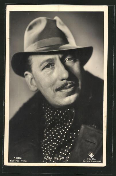 AK Schauspieler Willy Birgel mit Hut