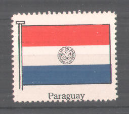 Reklamemarke Serie: Internationale Flagge, Flagge von Paraguay