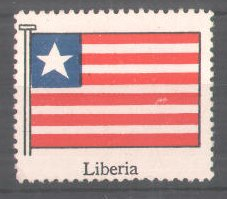 Reklamemarke Serie: Internationale Flagge, Flagge von Liberia