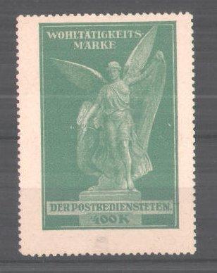 Reklamemarke Wohltätigkeits-Marke der Postbediensteten, Engel-Denkmal