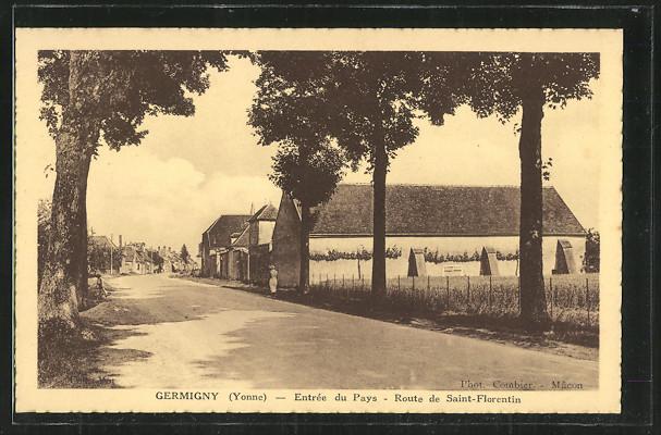 AK Germigny, Entrée du Pays, Route de Saint-Florentin