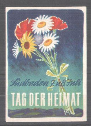 Reklamemarke Südbaden, Tag der Heimat, Blumenstrauss