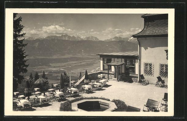 AK Kanzelhöhe, Terrasse am Berghotel
