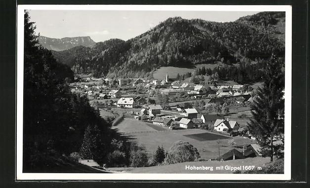 AK Hohenberg, Ortsansicht mit Gippel