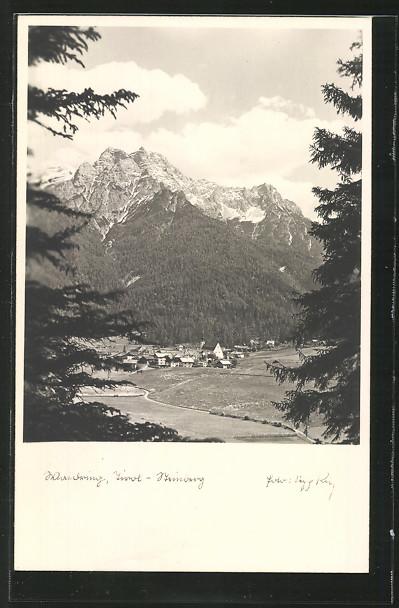 AK Waidring, Ortsansicht aus der Vogelschau