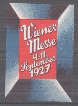 Reklamemarke Wien, Wiener Messe 1927