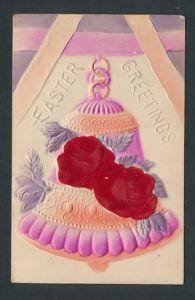 Künstler-AK Z. Stryjenska: Ostern Grüsse, Glocke mit Rosenblütten