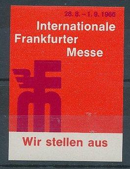 Reklamemarke Frankfurt an der Messe 1966, Internationale Frankfurter Messe 1966, Messelogo