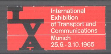 Reklamemarke München, International Exhibition of Transport and Communications 1965, Messelogo