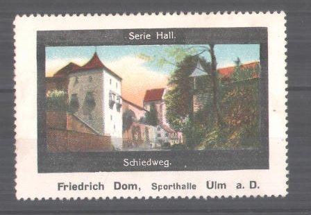 Reklamemarke Serie: Hall, Schiedweg