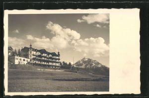 AK Igls, Hotel Iglerhof und Waldrast mit Blick zur Serles