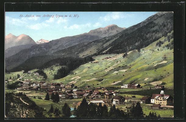 AK St. Anton a. Arlberg, Panorama